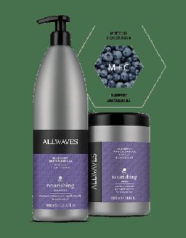 ALLWAVES Blueberry & Calendula Shampoo 1000 ml & Mask 1000ml