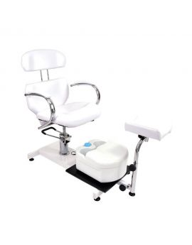 Hydraulic cosmetic chair with massager