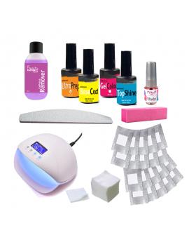 Gel polish kit with LED lamp