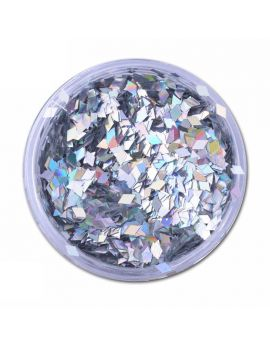 Silver Diamond Laser Nail art sequins