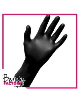 Gloves Nitrile - Black - L - Durable - 100pcs