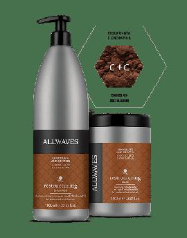 ALLWAVES Chocolate & Keratin Shampoo 1000 ml & Mask 1000ml