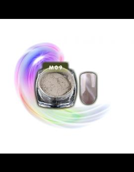 Silver Nude Cat Eye Effect Magic Mirror Powder 1g/box M09