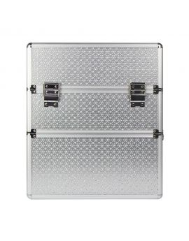 Cosmetic box with a lattice two-piece silver heart Nails Beauty Make Up & Hair