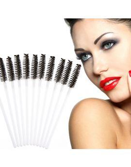 Disposable Eyelash Brush Mascara Wand Applicator White/black