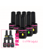 RNK Gel Polish  x12 + Free Top and Base + 3 Gel polish