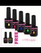 RNK Gel Polish  x5 + Free Base + 1 Gel polish